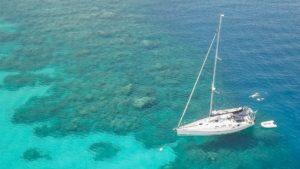 Image-Commercial-Boot-Luftbilld-Karibik