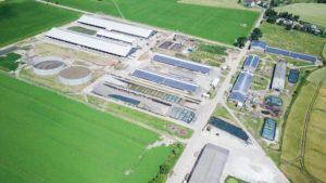 Landwirtschaft-Umwelt-Energie-Milchviehanlage-Luftbild